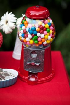 A sweet candy and hearts circus wedding | Offbeat Bride