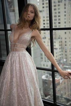 Magdalena Frackowiak pose for Berta fall 2016 wedding dresses