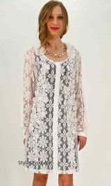 AP Christina Lace Tunic In White