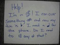Hahaha YES! Music humor! I love it! :D