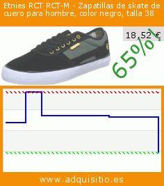 Etnies RCT RCT-M - Zapatillas de skate de cuero para hombre, color negro, talla 38 (Ropa). Baja 65%! Precio actual 18,52 €, el precio anterior fue de 52,50 €. https://www.adquisitio.es/etnies/rct-rct-m-zapatillas-6