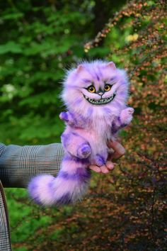 Pink Cheshire Cat Realistic toy by MonkeyBusinessToys. Fantasy creatures, Whimsical toys & pets toys from faux fur and polymer clay for home decorations and collectibles Pet Toys, Baby Toys, Kids Toys, Alien Creatures, Fantasy Creatures, Cute Baby Animals, Animals And Pets, Mystical Animals, Homescreen Wallpaper