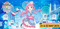 Penang Anime Matsuri 2016 - Penang, Malasya, 21 dan 22 Mei 2016 ~ Anime Nippon~Jin - Kagi Nippon He