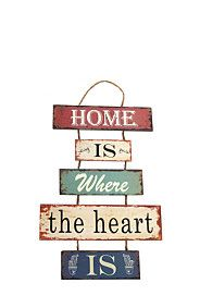 Home Is Where The Heart Is Hanging Plaque | Mrphome Online Shopping