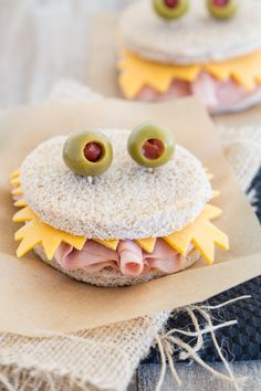 Monster Sandwiches  Repinned by Apraxia Kids Learning. Come join us on Facebook at Apraxia Kids Learning Activities and Support- Parent Led Group.