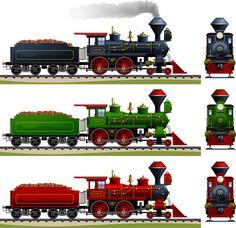 Cartoon Steam Train Vector Material
