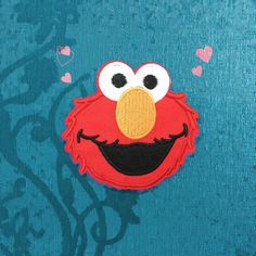 American Cookie Monster and Elmo Classical cartoon red iron on patches iron on appliques Embroidery patch Cartoon patch