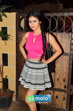 Mouni Roy at Karnvir Bohra's birthday bash in Mumbai