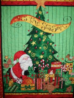 Santa Christmas tree door or wall hanging by ExpressionQuilts, $22.00