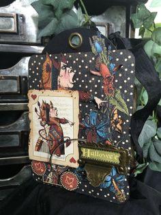 Hallowe'en in Wonderland projects from Diane's Workshop #graphic45 #sneakpeeks