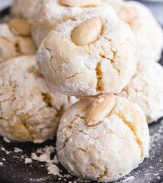 Italian Coconut Almond Cookies: These Almond Cookies are made with almond flour & coconut which makes them not only delicious but also Gluten Free. Ricotta Cookies, Almond Cookies, Applesauce Cookies, Sugar Cookies, What Is Almond Flour, Martha Stewart, Italian Lemon Cookies, Lemon Pudding Cake, Cookie Calories