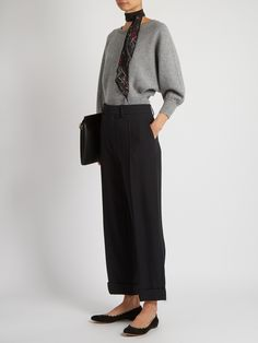 Wide-leg cady cropped trousers | Chloé | MATCHESFASHION.COM US