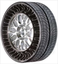 ... Michelin Tweel (Tire/WhEEL), an airless, integrated tire and wheel. This is weirdly cool!
