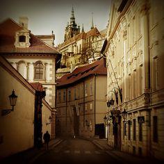 | ♕ | Street to Castle Hill - Prague | by © seriykotik1970