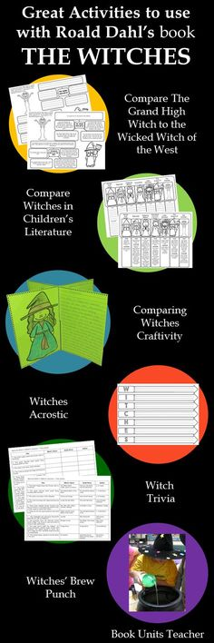 This free printable includes several witch activities that can be used while reading Roald Dahl's The Witches.