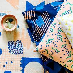 #textileart #textiledesign #printandpattern  \\  Microscope Cushion
