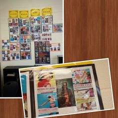 AWESOME AUTHORS ... Use pictures to show students the books, novels along with the authors of your classroom library.