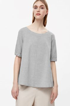 COS image 2 of Serpentine T-shirt in Grey