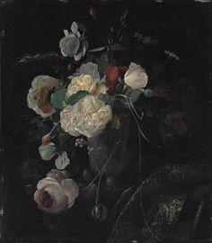 monsieurleprince:  Arthur Chaplin (1869 - 1935) - Roses in a vase