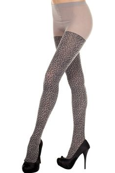 #MusicLegs #StaySexy https://www.fifty-6.com/…/c…/music-legs/hosiery/pantyhose-68 Cod.: ml7286 Pantyhose Spandex leopard tights Color: grey Sizes: One Size Material: 100% nylon