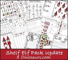 Free Shelf Elf Pack Update! Over 25 pages to go with the Shelf Elf pack that Elf on the Shelf - 3Dinosaurs.com