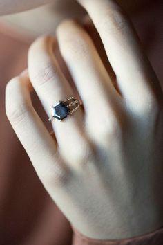 Jennie Kwon Designs - Diamond Slice Half Cage Ring | BONA DRAG