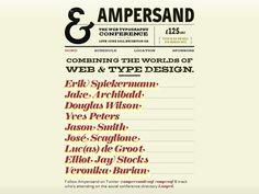 Ampersand Web Typography Conference website #webdesign