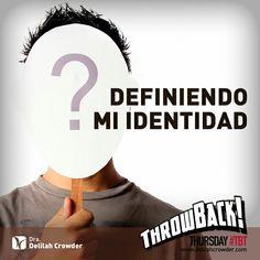 Nuestro #tbt video para está semana Definiendo Mi Identidad https://www.youtube.com/watch?v=xjOV_olJCK8&feature=youtu.be&utm_content=bufferdb697&utm_medium=social&utm_source=pinterest.com&utm_campaign=buffer