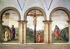 Chiesa di Santa Maria Maddalena dei Pazzi - Crocifissione del Perugino ( 1494-96 ), Firenze.