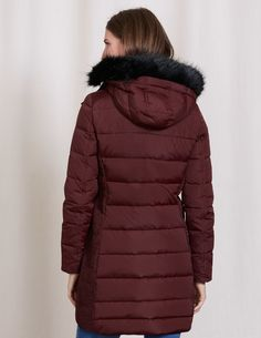 Andrew Marc Puffer Coat Brown puffer coat with fur hood Andrew ...