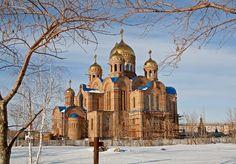 Строительство собора в Новокуйбышевске