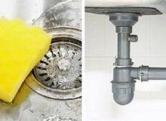 Truque para eliminar o mau cheiro dos canos da cozinha ou banheiro. Ingredientes: 1/2 xíc. de bicarbonato de sódio; 1 xíc. de vinagre branco; 1/2 l de água quente. Modo de preparo: Ferva a água e coloque o vinagre, mexendo com uma colher de pau. Derrame o bicarbonato de sódio no cano/ralo desejado e adicione a água fervente com vinagre. Não use mais a torneira. Deixe a mistura no interior dos tubos durante a noite toda e, pela manhã abra a torneira para jogar nos canos água corrente fria.