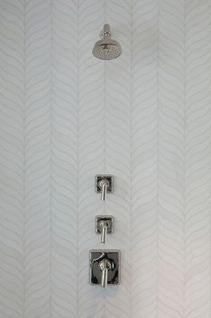 38 feather herringbone shower tiles - DigsDigs