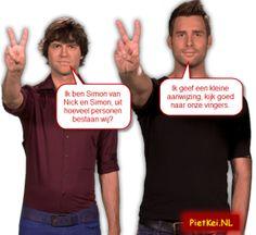 """Nick en Simon een Quilty Pleasure - ''PietKei.NL"""" humor,volendam,muziek"""