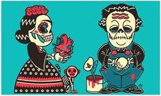 Lo único de bueno que tengo es que ya voy empezando a acostumbrarme a sufrir… 💀 #FridaKahlo #Fridaintima #Halloween 👻