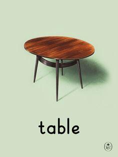 Table Art Print by Ladybird Books