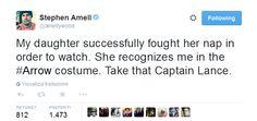 """Take that Captain Lance"" haha! Stephen is hilarious!"