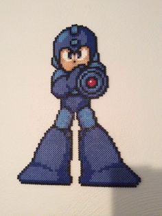 Mega Man perler bead sprite by zlink88 on deviantART