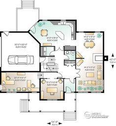 Détail du plan de Maison unifamiliale W3846