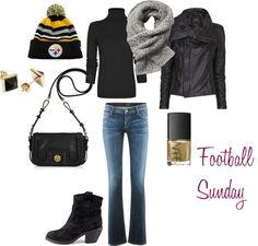 """Steelers Football Sunday"" by theprofessionalfashionista on Polyvore"