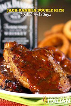 #RECIPE - Jack Daniels Double Kick Pork Chops