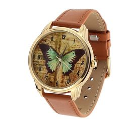 Unisex Watch for Men and Women. Vintage Butterfly от ArinaDeco
