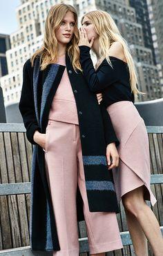 Tibi Pre-Fall 2015 // black, grey & pink #style #fashion