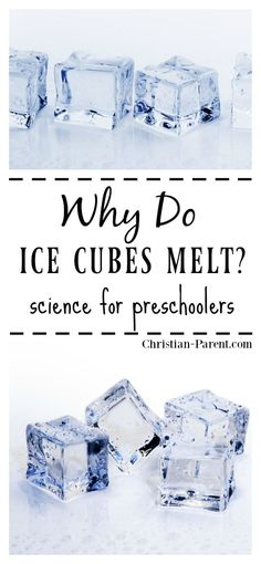 Easy science experiments to teach your preschool aged child learn why ice melts. Science Experiments For Preschoolers, Preschool Science Activities, Science Activities For Kids, Cool Science Experiments, Kindergarten Science, Science Week, Preschool Projects, Children Activities, Science Ideas
