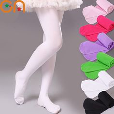 Girls A thin section fashion Pantyhose Baby velvet tights Children Solid Ballet Dance stockings Spring summer 0-12 years Kids CN