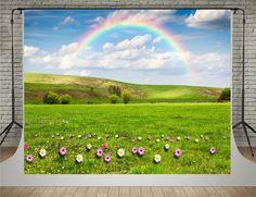 Amazon.com : SUSU Green Natural Scenery Photography Backdrops 7x5ft Pink Flowers Rainbow Background for Photographer : Camera & Photo Scenery Photography, Photography Backdrops, Rainbow Background, Natural Scenery, Adobe Photoshop, Summer Beach, Pink Flowers, Electronics, Amazon