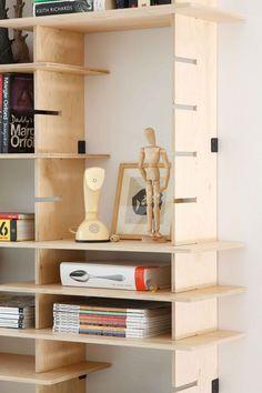 modular shelving system + plywood--pedersen lennard #shelves #storage #display #organization #industrial_design #modular #minimal #Scandi #hygge