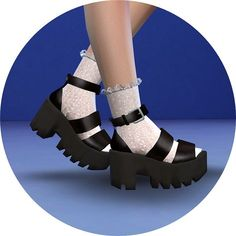 Marigold Sims 4 Chunky Sandals Platform shoes