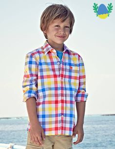 Laundered Shirt 21773 Shirts at Boden - Boden's Easter Egg Hunt - Boys Formal Shirts, Boys Dress Shirts, Boys Shirts, Casual Shirts, Easter Hunt, Easter Eggs, Boden Boys, Boys Wear, Mini Boden