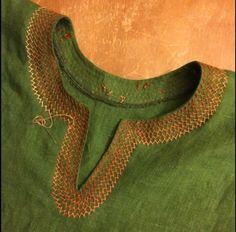 how to make a keyhole neckline